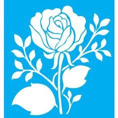 Stencil-para-Pintura-20x15-Rosa-com-Folhas-LSM-026---Litocart