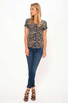 d948cae907b PRIMARY NEW YORK | Prime leopard tee & hudson jeans Silk T Shirt, Hudson