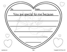 FREE Printable Valentine Writing Activity For Preschool, Kindergarten, 1st or 2nd Grade! These fun valentine printables can be used as Valentine's day cards, or they make decorations to hang around the classroom too. Get your free valentines here --> https://www.mpmschoolsupplies.com/ideas/7898/free-printable-valentines-day-writing-activity/