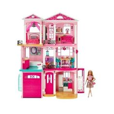 Barbie Dreamhouse Play Set With Fashionista Barbie Doll Gift Set Kids New Toys