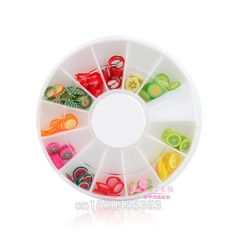 DIY Nail Art wheel Decorations Fruit Slices 3D by HighClassNailsss
