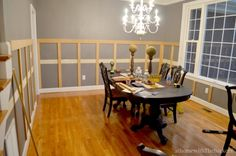 Dining Room Board and Batten-unpainted Before