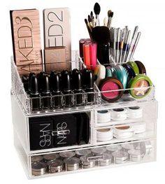 Evita que tu maquillaje y brochas se maltraten - 15 ideas para organizarlos