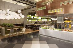 Nieuw Bijenkorf-restaurant van concrete - architectenweb.nl