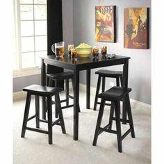 Spaicel-Buy-Wood-Bar-Table-Belfast-5-Piece-Bistro-Set-Black-Finish-NEW