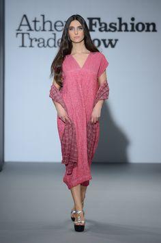 Eclectia: Elegant fuchsia linen summer dress. 100% Natural fabrics Greek Islands, Summer Collection, Cover Up, Fabrics, Spring Summer, Summer Dresses, Elegant, Natural, Fashion
