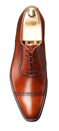 Westbourne Chestnut Calf, Oxford Shoe   Crockett & Jones