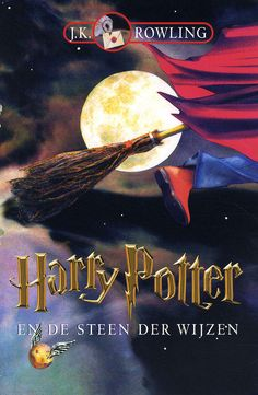 Cover of Harry Potter en de Steen der Wijzen - Dutch version of Harry Potter and the Philosopher's Stone Fantasy Book Covers, Fantasy Books, Garri Potter, Harry Potter Book Covers, Rowling Harry Potter, Harry Potter Universal, First Novel, Voldemort, New Books