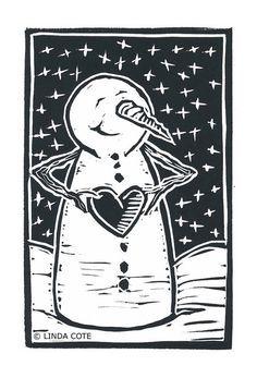 Items similar to Snowman Love, Hand Pulled Lino Relief Christmas Card, Printmaking Original on Etsy Christmas Ornament Storage, Lino Art, Stamp Carving, Linoprint, Christmas Illustration, Linocut Prints, Letterpress, Christmas Cards, Christmas Lyrics