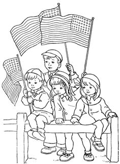 The Children Remembrance Day Coloring Page