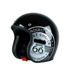 Motorcycle Retro Halley Character Half -Face Helmet Four Season Cruiser Motorcycle Helmet, Cool Motorcycle Helmets, Cycling Helmet, Cool Motorcycles, Bicycle Helmet, Route 66, Half Helmets, Open Face Helmets, Pinstriping