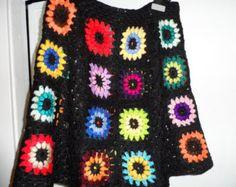 Crochet 1960-s hippie style boho  festival brown by krittenart