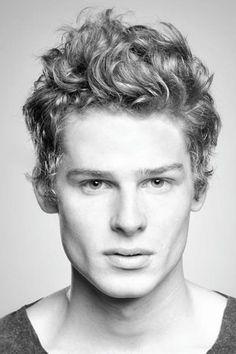Curly Medium Length Cut for Men