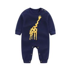 bbab969b014 Adorable Giraffe Print Long-sleeve Jumpsuit for Baby Boy  matchingoutfit   toddles  kid