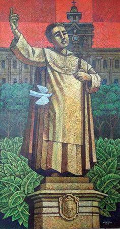 'Benavides' by Ninoy Lumboy, a Filipino artist.   Fr. Miguel de Benavidez is the founder of the Pontifical University of Santo Tomas, my alma mater. This painting is my tribute to him.