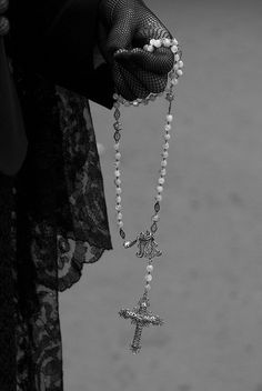 Lace and a rosary