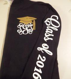 10% discount code (FALLFORSAVINGS) 1 Senior Shirt, Graduation Long Sleeve Shirt, Preppy Tie, Grad Cap, Class of 2017 by CottageatRusticLane on Etsy https://www.etsy.com/listing/264931456/10-discount-code-fallforsavings-1-senior