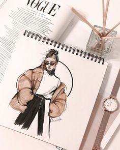 Fashion illustrator / designer 在 Insta. Fashion Sketchbook, Arte Sketchbook, Fashion Illustration Sketches, Illustration Mode, Fashion Sketches, Drawing Sketches, Fashion Design Inspiration, Fashion Design Portfolio, Fashion Design Drawings