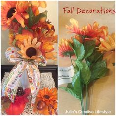 Hello blog friends.  I love when the dollar and craft stores have their supplies available for fall decorating and crafting.  They have ite...