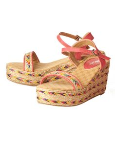 Pink color Wedges shoes for Ladies and Women