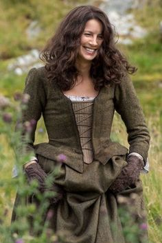 Outlander's Claire - I so love these inspired dresses they designed for the show. The wool, the knits.... #love