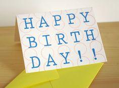 HAPPY BIRTH DAY!!可愛い○の背景+レターでシンプル&ポップに仕上げました。パステルピンク×ブルーの爽やかなカードです。  セット内...|ハンドメイド、手作り、手仕事品の通販・販売・購入ならCreema。
