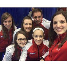 """Team Canada selfie @team_homan #stoh"" Curling Canada, Happy Words, Are You Happy, Curls, Athlete, Have Fun, Rocks, Lisa, Colours"