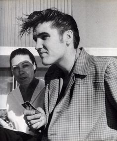 The King Elvis Hated Being Called He Said Jesus Was But Boy Could Sing Las Vegas All Messy Hair Signing Autographs