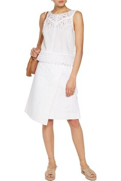 Shop on-sale Tory Burch Lydia broderie anglaise cotton-poplin top. Browse  other