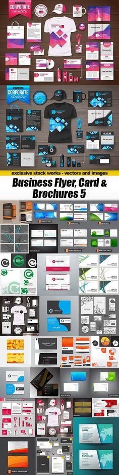Business Flyer, Card & Brochures – Design Collection 5, – 39xEPS 39xEPS | 305 MB