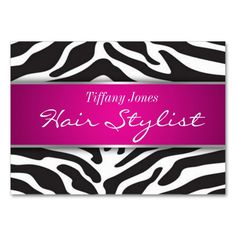 Zebra Print Cosmetology Appointment Card Large Business Cards (Pack Of 100). Make your own business card with this great design. All you need is to add your info to this template. Click the image to try it out!