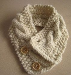 Knitting Pattern Cabled Neck Warmer by HomeMadeOriginals on Etsy. Very very pretty Crochet Scarves, Knit Crochet, Knitting Projects, Crochet Projects, Knitting Patterns, Crochet Patterns, Knit Cowl, Cable Knit, Neck Scarves