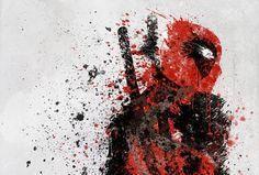 Deadpool splatter art.