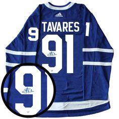 1dd17e135 Frameworth Sports John Tavares Signed Jersey Pro Adidas Toronto Maple Leafs  Home Blue L