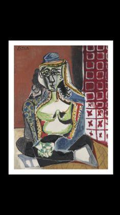- Pablo Picasso - Femme accroupie au costume turc (Jacqueline), 26 XI 1955 - Oil on canvas - 115,8 x 89,2 cm (..)