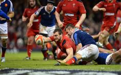 Sam Warburton crosses the line for Wales against France #Rugby #WalesRugby | The 6 Nations Weekend Review: Round 3 - Rugby Today