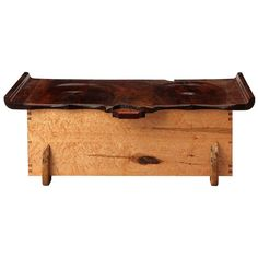 A fine and meticulously crafted studio-made cedar-lined blanket chest and bench made from a variety of expressive woods with carved seating on the lid. The chest also contains a floating interior object tray of maple and cedar. Wooden Toy Boxes, Wooden Toys, Blanket Chest, Wooden Chest, Bench Seat, Storage Chest, Objects, Carving, Interior