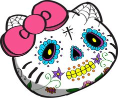 HELLO KITTY'S REPRESENTATION OF THE DAY OF THE DEAD. I LOVE BEING MEXICAN. WE REALLY GET THE COOLEST STUFF. (VIA DEVASAURUSREX)