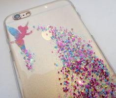 fd7291df553 Tinkerbell Glitter Disney iPhone Case, 5 5s SE 6 7 8 Plus, Glitter Phone  Case, Tinkerbell iPhone Case, iPhone Glitter Case, Hard