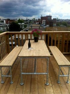 55 rustic outdoor patio table design ideas diy on a budget (49)