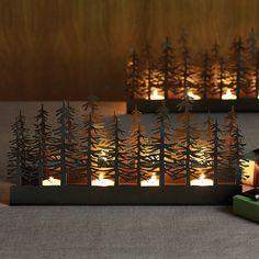 Scandinavianshoppe - Nordic Trees Tealight Candle Holder, $40.00…