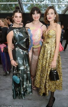 Tantalising trio: Pixie, Daisy and Alexa packed a sartorial punch inside the gala...