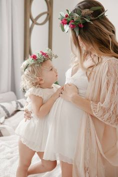 "Mother & Daughter ""Petal Angels,"" Beautifully Captured~❥"