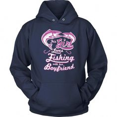 6624ac5f91 This Girl Loves Fishing With Her Boyfriend Funny Cute Fishing Gift Hoodies  #fishingtricks Second Grade