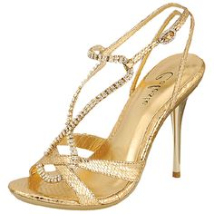 Save 10% + Free Shipping Offer * | Coupon Code: Pinterest10 Material: Man Made Material. 4 inches inches True to size, Sexy Evening Shoes Product Code:Honey 05 Gold Women's Celeste Honey-05 Gold Rhinestone Evening Shoes