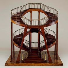 Double spiral stairs. BLDGBLOG