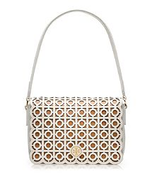 I LOVE all of the laser cut leather in this collection!  Kelsey shoulder bag – Tory Burch Spring 2013
