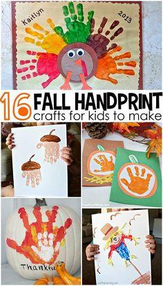 Fall Handprint Craft Ideas for Kids (Find pumpkins, acorns, turkeys, and more!)