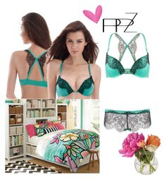 """PPZ Blue&Black"" by eliza-redkina ❤ liked on Polyvore featuring Cultural Intrigue and lingerie"