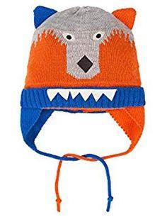 Deux par Deux Boys' Ear-flap Hat Mechant Look Blue, Sizes Snow Wear, Boy Fashion, Latest Fashion Trends, Winter Hats, Boys, Link, Stuff To Buy, How To Wear, Image
